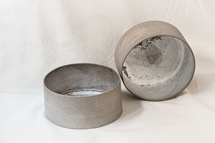 Salad bowl, grey
